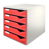 Leitz 5280 ladenblok rood (5 laden) 52800025 211206