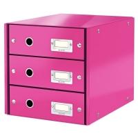 Leitz 6048 wow ladenblok roze metallic 3 laden leitz for Ladeblok roze
