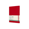 Moleskine XL 18 maanden weekagenda 2020/2021 soft cover rood IMDSF218WN4Y21 313050