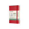 Moleskine pocket 18 maanden weekagenda 2020/2021 hard cover rood IMDHF218WN2Y21 313034