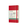 Moleskine pocket 18 maanden weekagenda 2020/2021 soft cover rood IMDSF218WN2Y21 313035