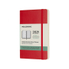 Moleskine pocket weekagenda 2021 soft cover rood IMDSF212WN2Y21 313008