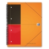 Oxford international meetingbook A4 gelinieerd 80 grams 80 vel oranje