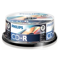 Philips CD-R 80 min. 25 stuks in cakebox CR7D5NB25/00 098002