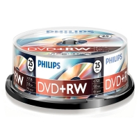 Philips DVD+RW rewritable 25 stuks in cakebox DW4S4B25F/00 098016