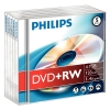 Philips DVD+RW rewritable 5 stuks in jewel case
