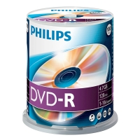 Philips DVD-R 100 stuks in cakebox DM4S6B00F/00 098030
