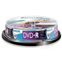 Philips DVD-R 10 stuks in cakebox DM4S6B10F/00 098027