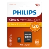 Philips Micro SDXC geheugenkaart class 10 inclusief adapter - 128GB FM12MP45B/10 098150