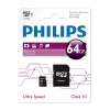Philips Micro SDXC geheugenkaart class 10 inclusief adapter - 64GB FM64MP45B/00 FM64MP45B/10 098148
