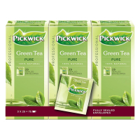 Pickwick Professional green tea pure (3 x 25 stuks)  421009