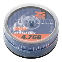 Platinum DVD-R 25 stuks in cakebox 100302 090309