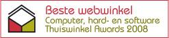 123inkt.nl: Beste Webwinkel Thuiswinkel Awards 2008 Computer Hardware en Software