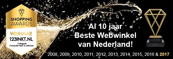 123inkt.nl: AL 10 jaar Beste Webwinkel van Nederland